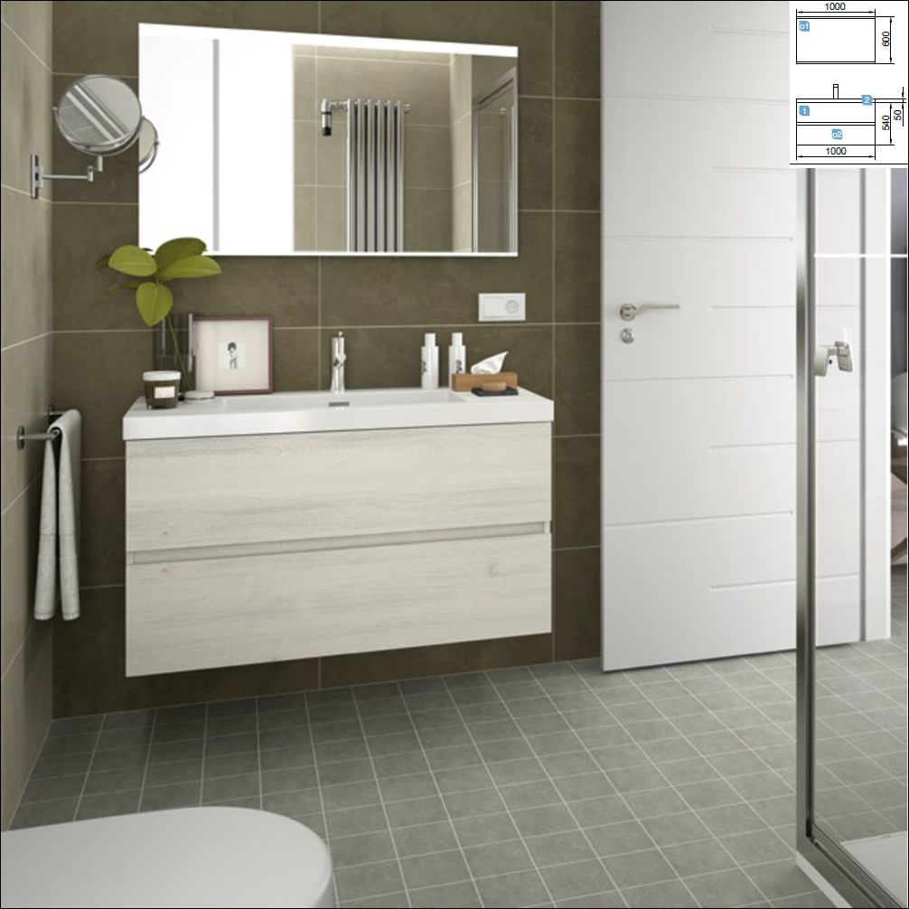 Fussion Line Sbiancato 1000 + lavabo Toscana