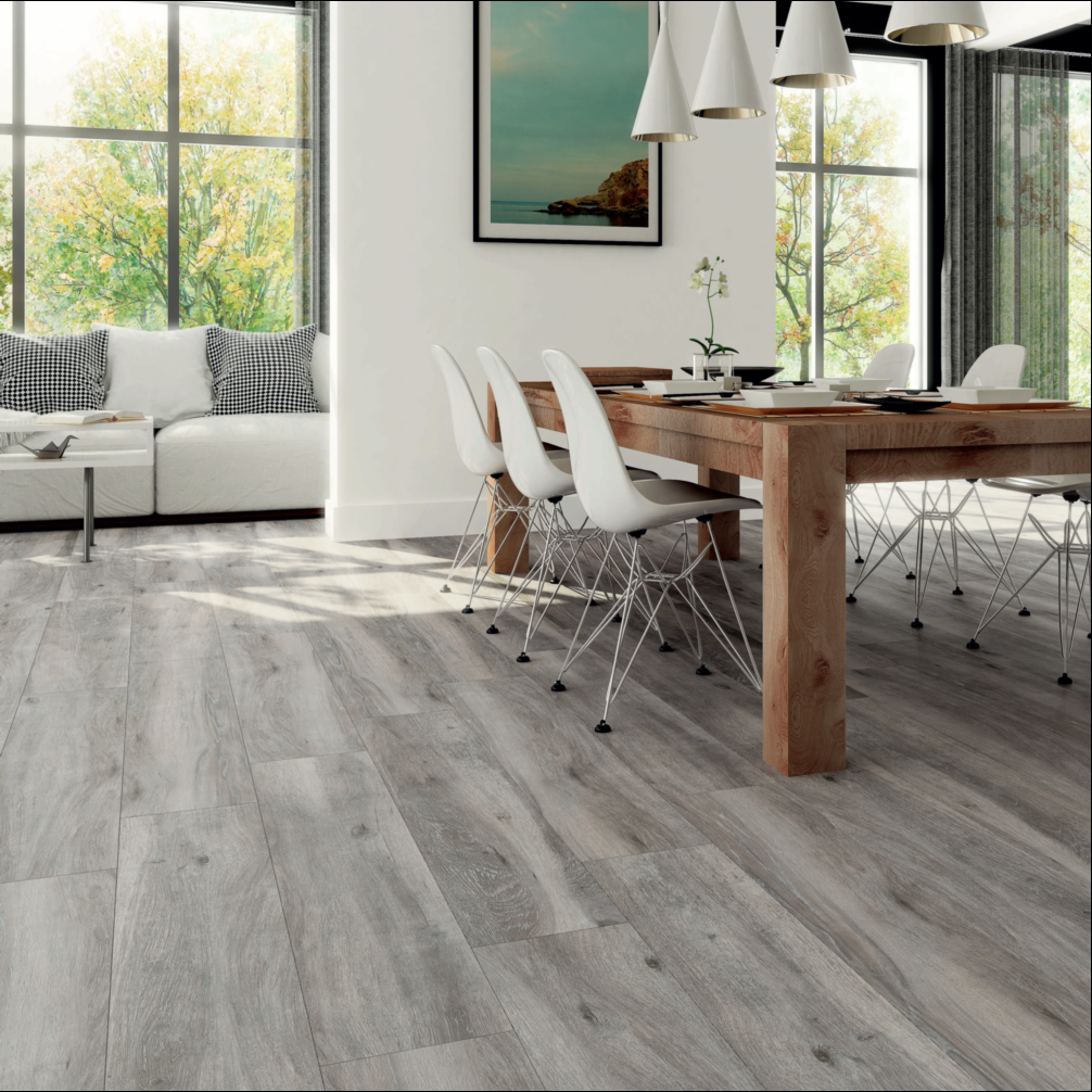 Atelier porcel nico imitaci n madera opci n for Suelo porcelanico gris