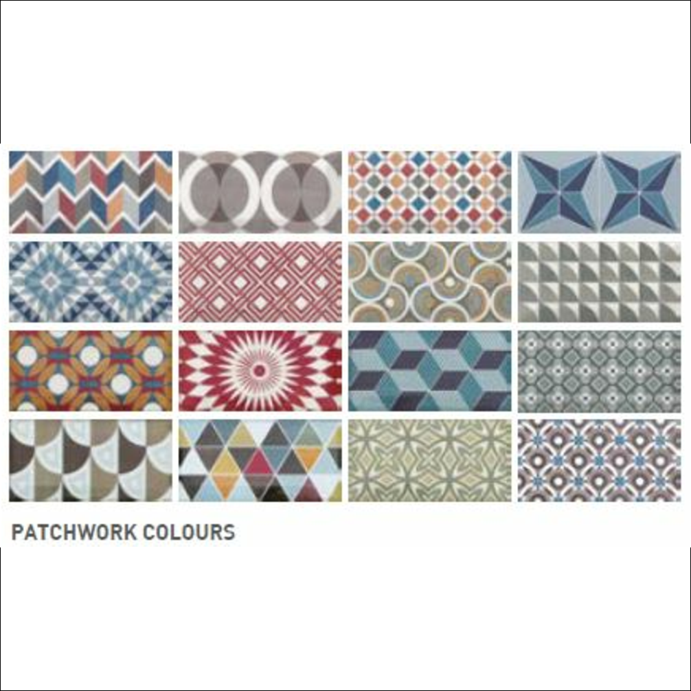 Modelo Metro Patchwork Colours 7.5x15
