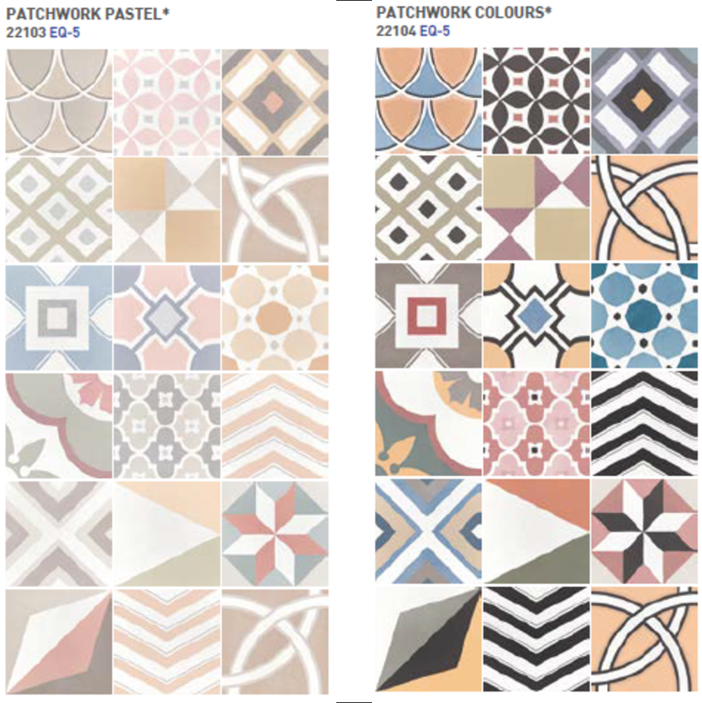 Caprice Deco Patchwork Pastel y Colours