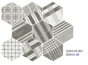 Hexatile Cement - Cement Geo grey